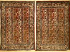 1 pair of Qom old rugs, Persia, approx. 60 years, wool