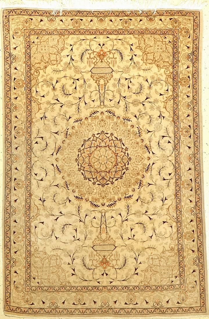 Keschan old, Persia, approx. 60 years, wool oncotton
