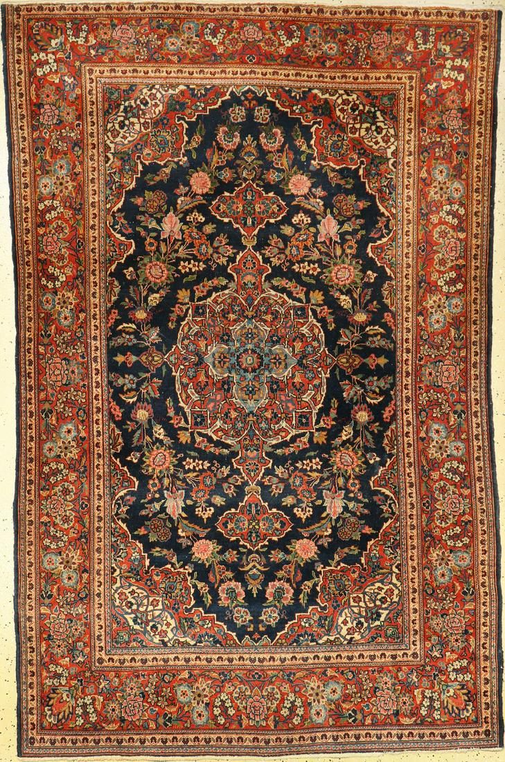 Keschan old, Persia, around 1930, wool, approx. 205