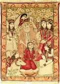 Kerman antik, Persia, um 1890, Wolle auf Baumwolle