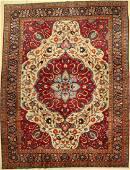 Tabriz old, Persia, around 1930, wool on cotton