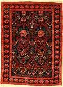 Antique Seikur (fragment), Caucasus, around 1890, wool