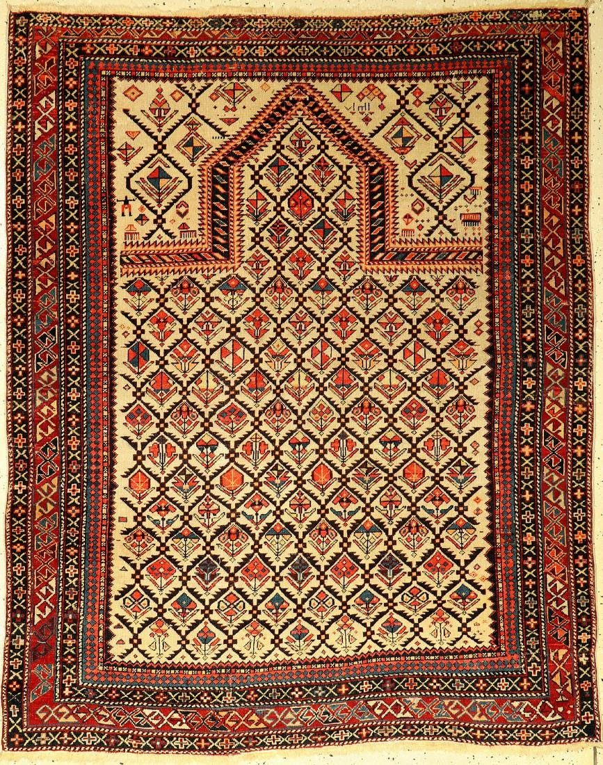Shirvan prayer rug, antique, Caucasus, late 19th