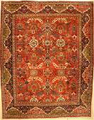 Large Mahal antique carpet, Persia, around 1920, wool