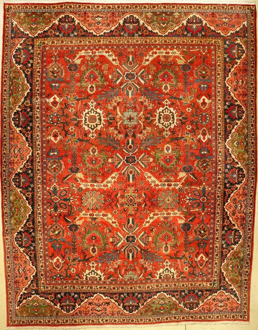 Large Mahal antique carpet, Persia, around 1920, wool