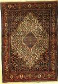 Fine Senneh old rug, Persia, around 1930, wool on