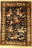 Silk Qom old, Persia, approx. 50 years, pure natural