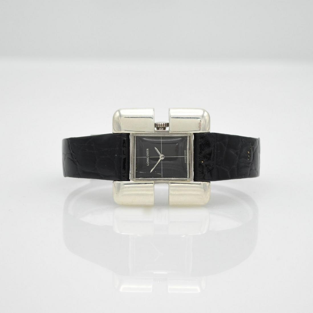 LONGINES Serge Manzon rare wristwatch in silver