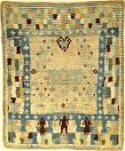 Unique Early Rya 'Wedding-Rug' (Published By Bausback),