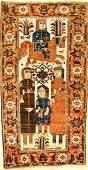 Rare Ferdows Baluch 'Pictorial Rug' (Khosrow & Shirin),