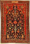 Exceptionally Fine  Important Farahan Rug Signed