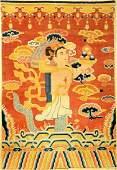 Unique Ningxia 'Temple Rug' (Buddhism Deity) 'Published
