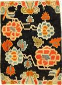 Tibetan Shigatse 'Goyul' Rug (Peonies),