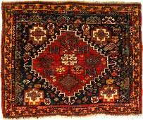 Fine Qashqai 'Bagface' (Purple Silk Wefts & Silk