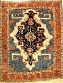 Rare Large White Ground Heriz 'Serapi' Carpet,