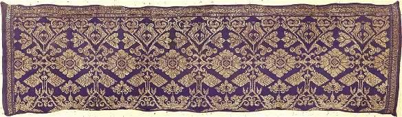 Very Fine & Rare 'Silk & Metal Thread' Indonesian