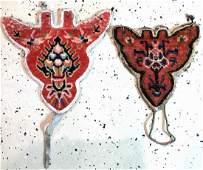 (2 Lots) 2x Tibetan Shigatse 'Animal-Head Jewelery',