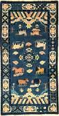 Beijing old rug (8 Holy Horses of Emperor Mu- Wa ng)