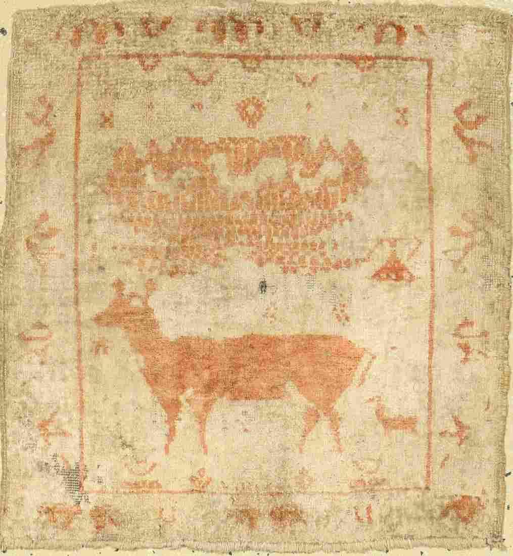 Tabriz silk rug, Persia, around 1890, silk on cotton