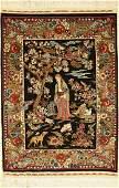 Hereke silk rug Özipek signed, Turkey, approx.30 years