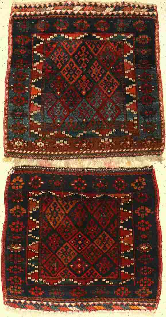(2 lots) 2x Jaff 'bag-faces' old, Persia, around 1930