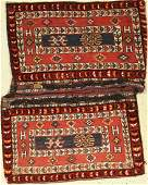 Luri double bag heybe old Persia around 1920 wool