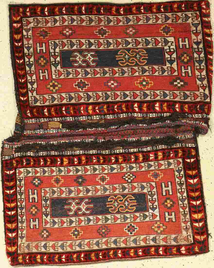 Luri 'double bag' heybe old, Persia, around 1920, wool