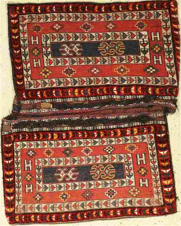 Luri 'double bag' heybe old, Persia, around 1920, wool