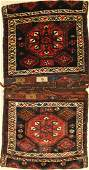 Bachtiari Heybe old Persia around 1940 wool on