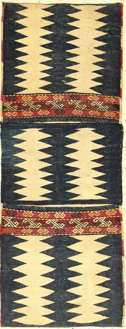 Azeri 'Heybe' bag old, Azerbaijan, around 1930, wool /