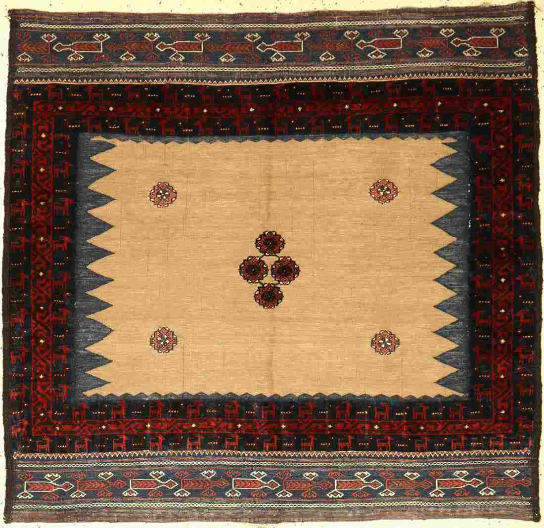 Fine rare Baluch Sofreh old (camel wool), Persia