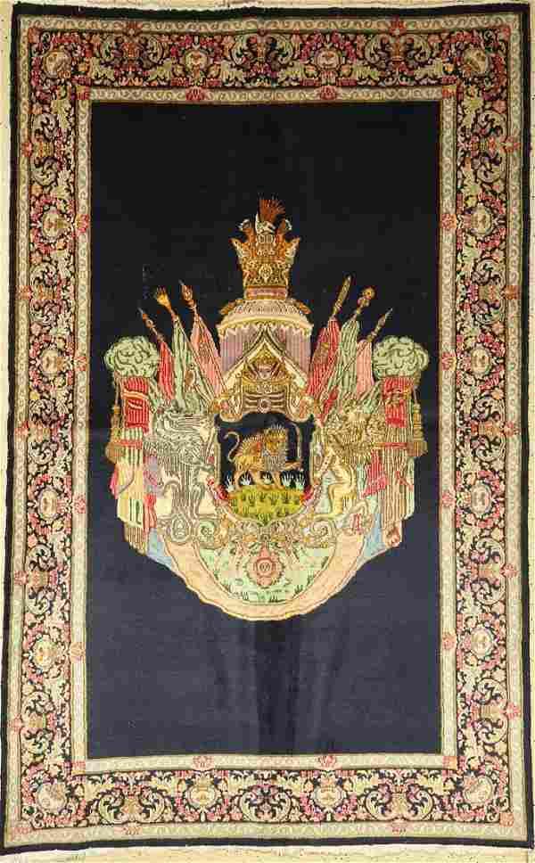 Kerman Lawar (coat of arms motif), Persia, approx. 60