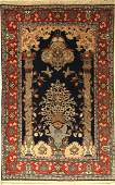 Qum with silk old, Persia, approx. 40 years, wool with