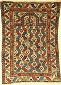 Rare Shirvan prayer rug, antique, Kaukasus, 19th