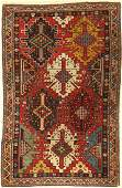 Rare Kuba antique kilim design Caucasus 19th