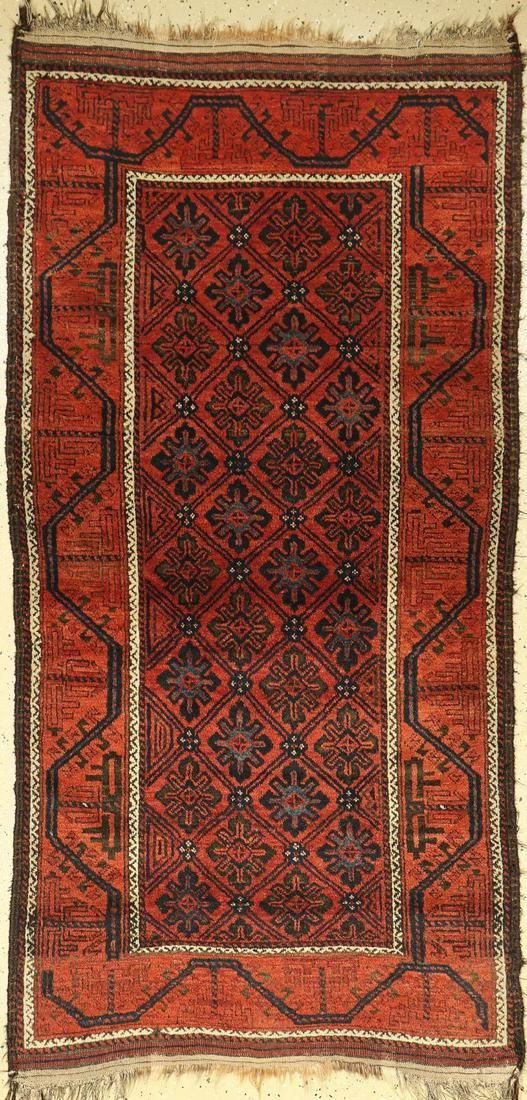 Baluch antique, Persia, around 1890, wool on wool
