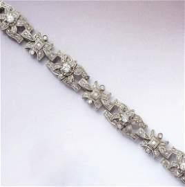 Platinum bracelet with diamonds