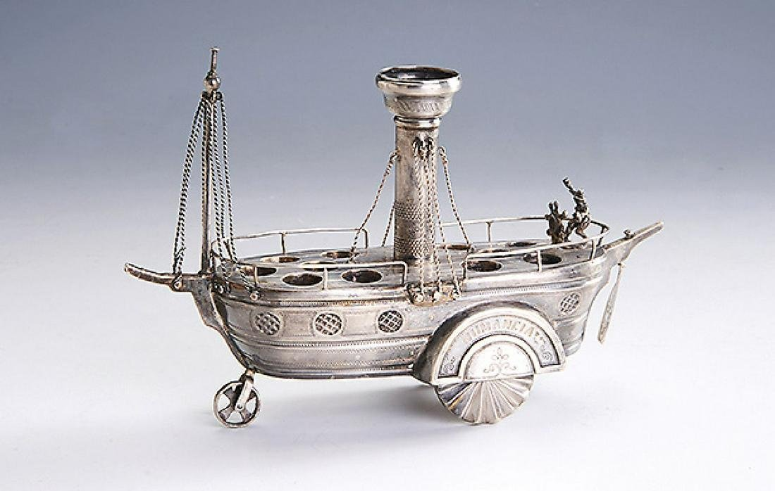 Cigar holder in the form of a boat, approx. 1900