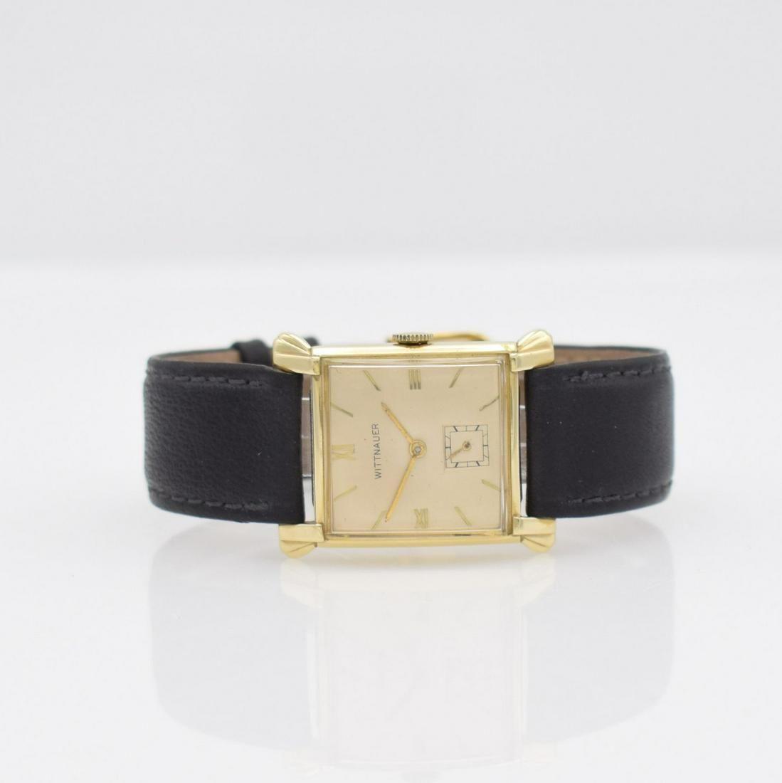 LONGINES - WITTNAUER 14k yellow gold wristwatch