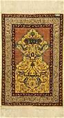 Hereke silk signed, Turkey, approx. 50 years,pure