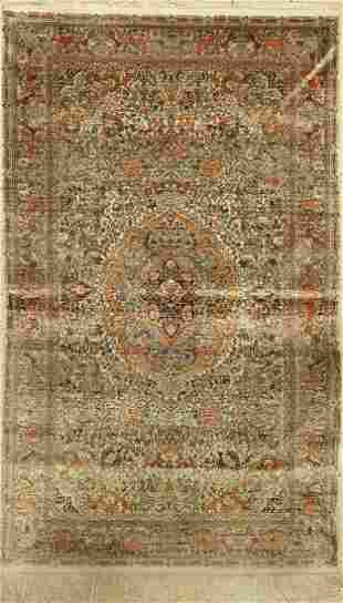 Hereke silk fine, China, approx. 30 years, pure natural