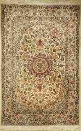 Isfahan fine, China, approx. 40 years, wool onsilk