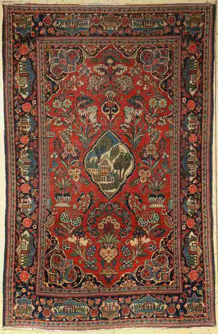 Kashan old, Persia, around 1930, wool on cotton