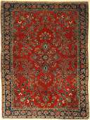 US Kashan antique, Persia, around 1900, wool on cotton