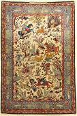 Isfahan fine signed, Persia, approx. 40 years, wool on