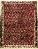 Senneh old Persia around 1940 wool on cotton