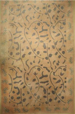Tientsin fine, China, approx. 50 years, wool on cotton