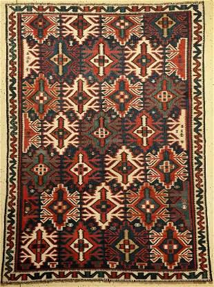 Shirvan Kilim antique, Caucasus, around 1910, wool on