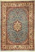 Fine Isfahan old Persia around 1960 wool onsilk