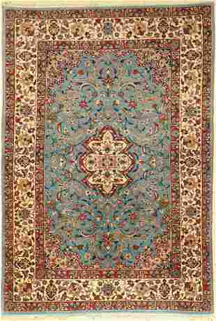 Fine Isfahan old, Persia, around 1960, wool onsilk